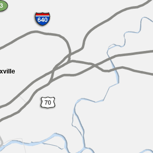 Knoxville Traffic Map.Traffic Condition Maps Tennessee Knoxville Region