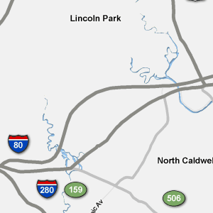 Traffic Condition Maps - New Jersey - Roselle region