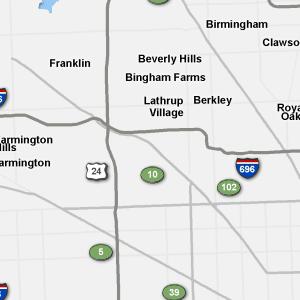 Metro Detroit Traffic Map.Sigalert
