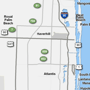 Traffic Condition Maps Florida West Palm Beach Region